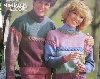 VINTAGE 1984 Brunswick 13 Classic Knitting Patterns For Men Or Women Fabulous  Leggings Hats Sweaters Vests Aryan Knitting