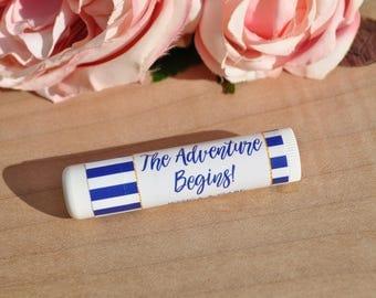 Wedding Lip Balm Favor Labels, Bridal Shower Lip Balm Favors, Bachelorette Party, Engagement Party Favors, Blue Nautical - Set of 24 Labels