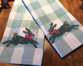 Custom order for Gail   Bunny appliqué
