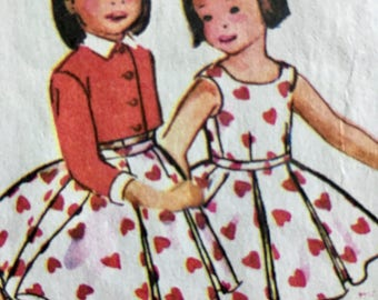 50s Girl's Dress Pattern McCalls 3882 Size 4