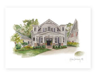 Custom Cottage Watercolor