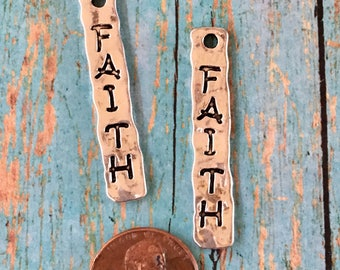 FAITH Pewter Charm Silver Perfect for Earrings