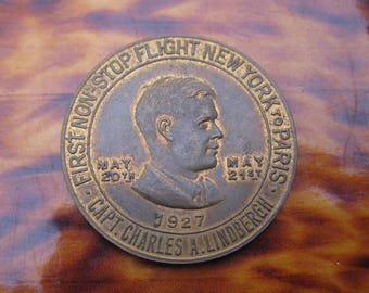 1927 Lucky Lindbergh Coin The Spirit of St. Louis
