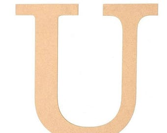 "SUPPLY SALE 10 Inch Letter ""U"" Ab2045, Unfinished Letters, Initials Wreaths, Letters for Wreaths"