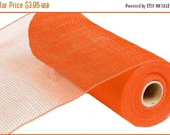 SUPPLY SALE 10 Inch Orange Deco Mesh Roll RE130220, Deco Mesh Supplies