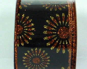 ON SALE 2.5 Inch Fall Starburst Ribbon RW7075Jc