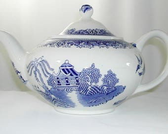 Antique Enoch Woods and Sons Willow Teapot Circa 1917