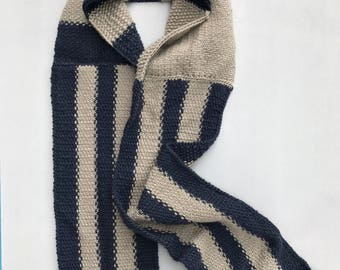 HERITAGE: Hand Knit One Of A Kind Merino Wool Scarf