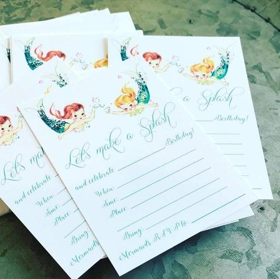 Mermaid Invitations - pack of 10