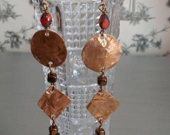 Copper Fashion Swing Earrings