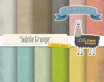 Grunge Digital Paper, Subtle Texture Digital Backgrounds, Grunge Paper Pack, Grunge Scrapbook Paper, Commercial Use