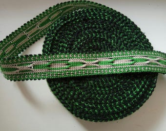 Uzbek handwoven cotton trim Jiyak. Tribal ethnic, boho, hippy trim. NTR023