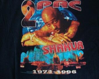 Tupac Shakur 2 Pac No More Pain Rap Hip Hop Memorial Non Concert Tour T shirt XL