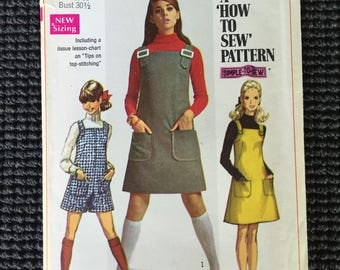 Simplicity 7877 Junior Teen Jumper Romper Sewing Pattern Size 9/10 UNCUT