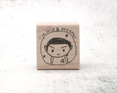 The Spock Live Long and Prosper Rubber Stamp - LLAP Trekkie Pen Pal Stamp - Sci-Fi Stamp