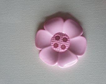Extra Large Flower Button -Baby Pink