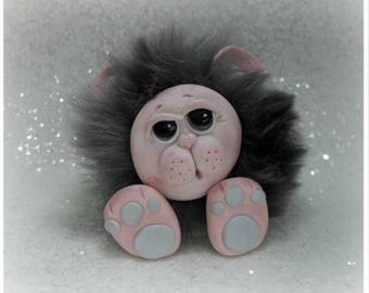 Furry Monster Collectable Polymer Clay *not a toy*