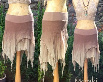 Dusty Dessert Floaty Pixie Fairy Skirt, Layer Skirt, Boho Skirt
