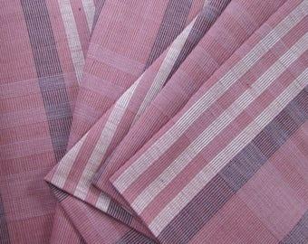 Guatemalan Fabric in Mauve Plaid