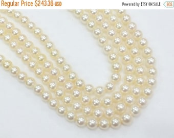 ON SALE 55% Ivory South Sea Pearls, Natural Pearls, Original South Sea Pearls Non Treated Round Balls, 5-6mm, 18 Pcs