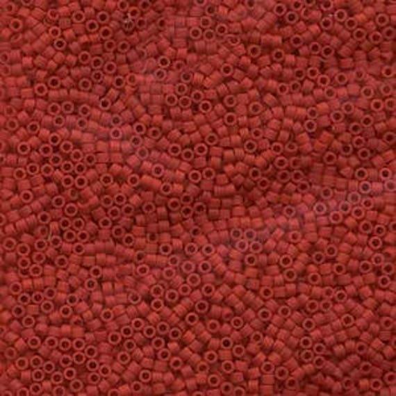 5g DB753 Miyuki Delica Bead Opaque Dark Red