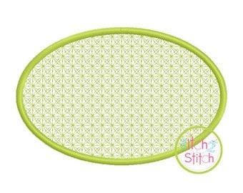 Oval 2 Motif Embroidery design for machine embroidery, monograms NOT included, INSTANT DOWNLOAD