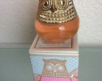 Vintage AVON OWL Fancy Rose Cologne Gelee Sz 4 oz made in USA