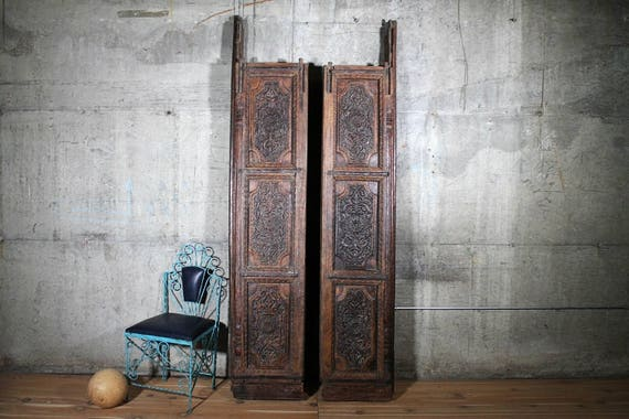 Like this item? - Antique Door Set Heavily Carved Teak Wood Indian Haveli Doors
