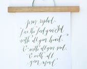 Reserved for Amanda: Custom Calligraphy Prints