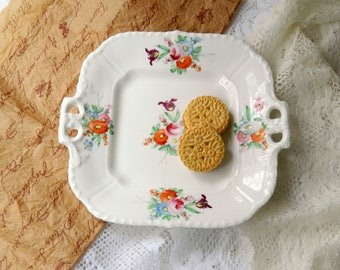 Tea Party Serving Plate. Wedding Tableware. Bridal Tea China. Luncheon Entertaining. Housewares. Shabby Cottage Chic.