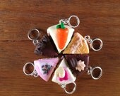 Custom order for Emily - Stitchmarkers - Let them eat cake - Stitch Markers