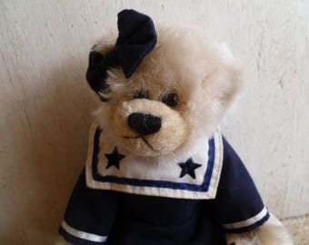 Ty Plush Teddy Bear Sailor Girl  1993