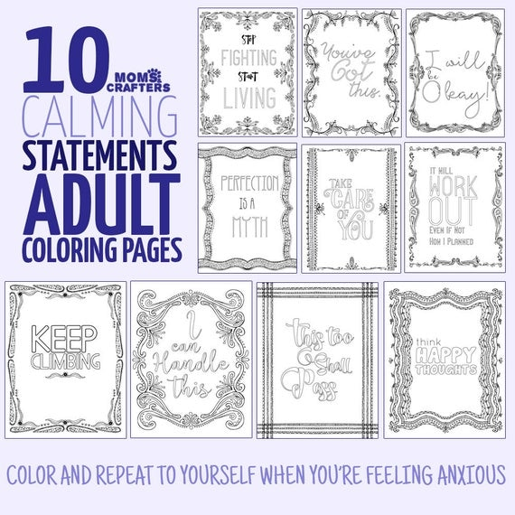 10 Printable Motivating Coloring Pages For Adults