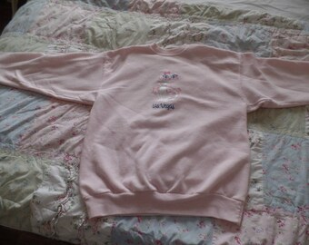 Vintage Las Vegas Souvenir Sweatshirt Kitty Cat