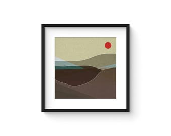 LANDSCAPE & BEYOND no.103 - Abstract Modern Minimalist Landscape Mid Century Style Art Print