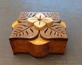 Dogwood Leaf Recycled Wood Jewelry Box/Keepsake Box/Trinket Box