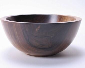 "Wild Black Walnut Wooden Bowl #1662 9"" X 4"""