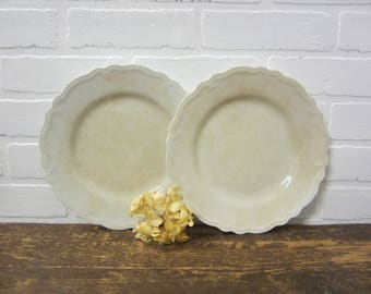 "Two Vintage W.H. Grindley & Co. England The Marquis Round 10"" Plates"
