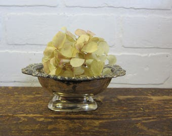 Vintage Silver Plate Metal Small Soap Dish Bowl