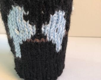 Blue Birds Coffee Cup Cozy Knit Mug Cozy Can Koozie Travel Mug Sleeve