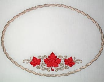 Canada Maple Leaf quilt label to customize with your personal message