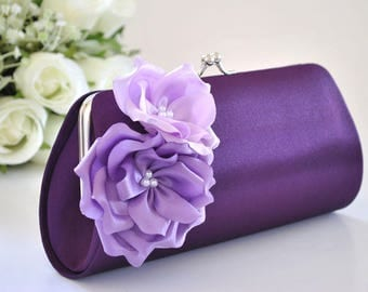 Shades of Purple / Bridal clutch / Bridesmaid clutch / Wedding clutch/ Prom clutch/Custom clutch