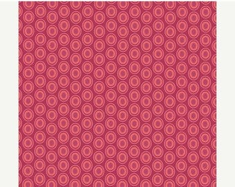 SALE 30% OFF - Oval Elements in CRANBERRY (Oe-913) - Pat Bravo for Art Gallery Fabrics - By the Yard