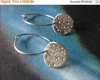 SALE Tiny Starburst Galaxy Sterling Silver Earrings