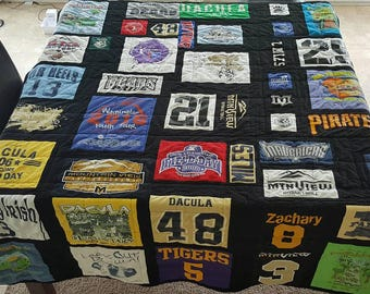 T-Shirt Quilt Custom Order Memory Quilt, Order yours today, Twin