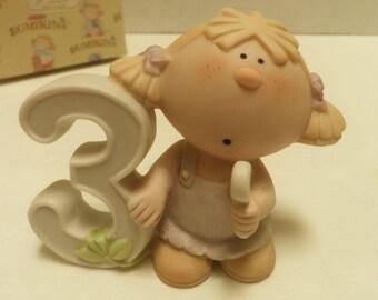 1984 BUMPKINS figurine, Child's 3rd Birthday, by Fabrizio, in original box
