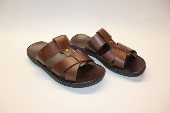 SALE SIZE 40! Leather sandals , leather slides, mens sandals 40