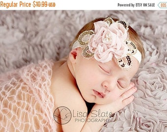 10% SALE SALE headband normally 12.99 is 2.00 off Baby headband, newborn headband, , child headband and photography prop - Daisy chiffon