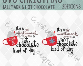 Hallmark and Hot Chocolate SVG, STUDIO, and PNG cut file