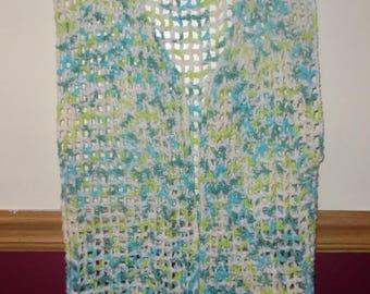 crochet vest, crocheted vest, spring vest, summer vest, ladies vest, easy breezy summer vest